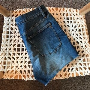 Madewell High Rise Jean Shorts